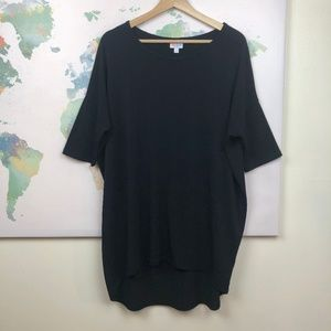 Lularoe Solid Black Irma Top Size Medium
